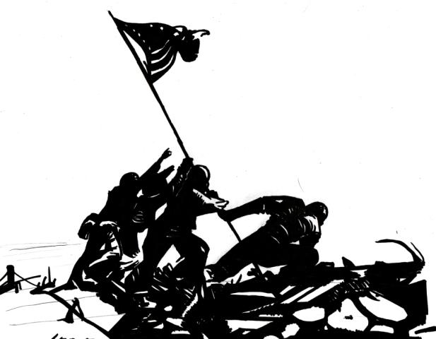 Title - Iwo Jima Style - Realism/Silhouette Medium - Sharpie