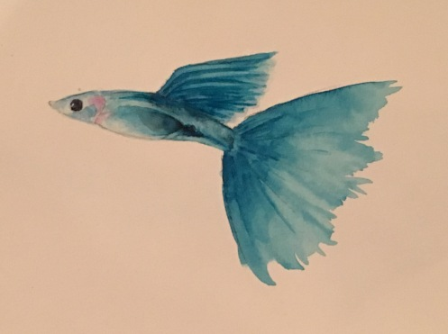 Little Blue Fish (Sold)